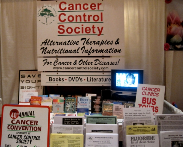 Cures for cancer at the Conscious Life Expo.